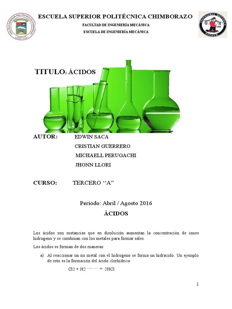 Trabajo Grupal 1 Acidos