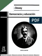 Dewey, John - Democracia y Educación