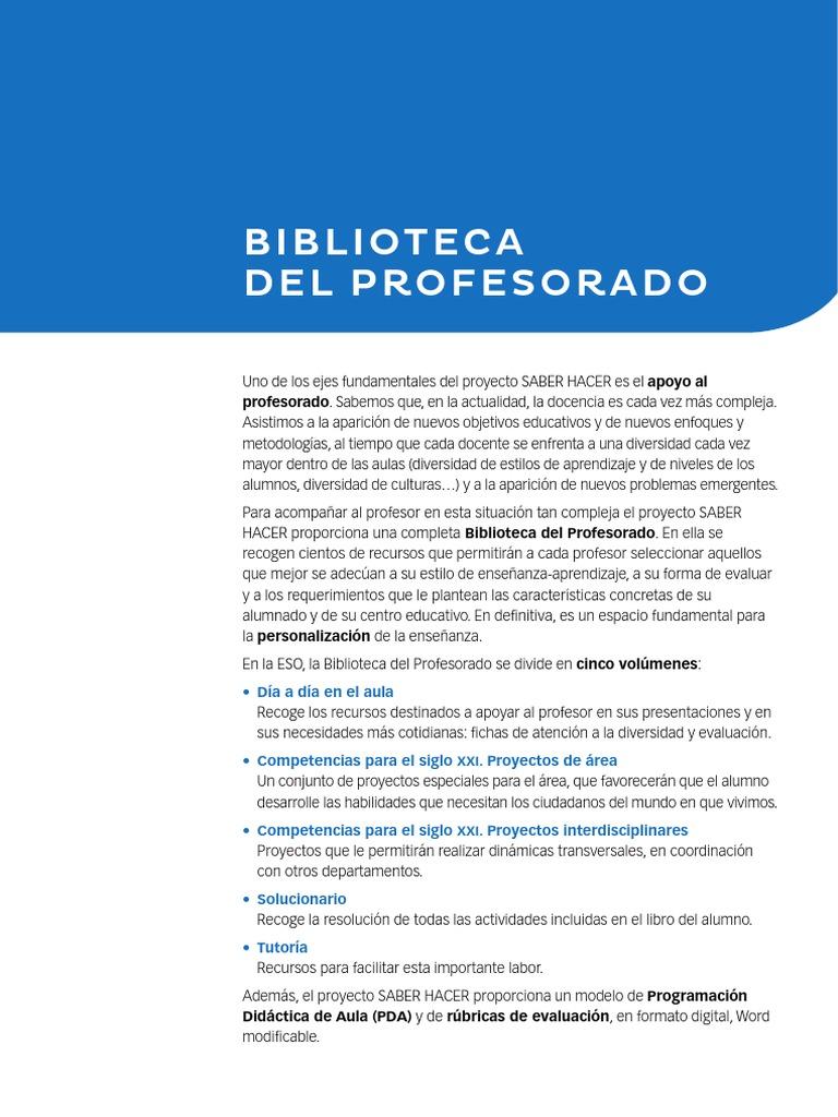Biblioteca Del Profesorado Maestros Plan De Estudios