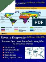 Biomas - F.temperada-F. Tropical-Savanas e Desertos