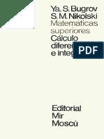 Cálculo Diferencial e Integral (Matemáticas Superiores) - Bugrov y Nikolski (Tomo II)