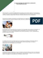 Formación Docente y Nuevas Tecnologías de La Información y Comunicación