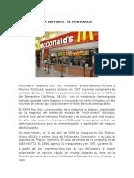 La Historia de Mcdonald