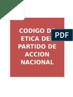 Codigo de Etica Del Partido de Accion Nacional