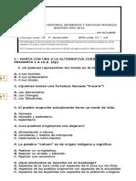 Evaluaciòn III Matemàtica Junio