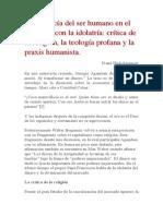 Hinkelammert - La Primacía Del Ser Humano