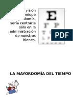 Mayordomia Del Tiempo