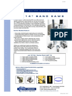 Carter Products Jet Bandsaw Guide Conversion Kit Installation Instructions