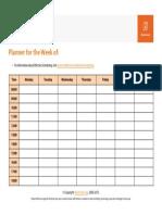 Effective Scheduling Worksheet