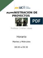 3)Administracion de Proyectos