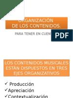 ORGANIZACIÓN de Los Ejes Musicales