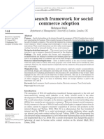 A Research Framework for Social Commerce Adoption