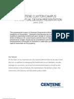 Centene Clayton Campus Conceptual Design Presentation - June 6, 2016