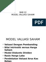 BAB 22 model valuasi saham