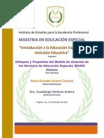 Enfoques y Propósitos del Modelo de Atención de los Servicios de Educación Especial, MASEE Síntesis