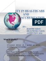 Dr.sumitra - Quality in Healthcare and Accreditation Ppt
