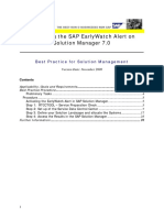 Activating the SAP EarlyWatch Alert
