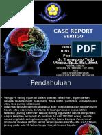 PPT Case Report Vertigo
