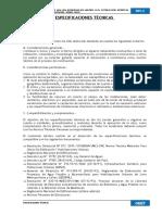 ESPECIFICACIONES TECNICAS LOSA DEPORTIVA