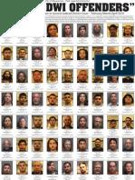 DWI Convictions - March-April 2010