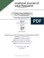 [1987 J.J. Slotine, W. Li] On the Adaptive Control of Robot Manipulators.pdf