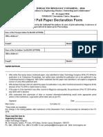 Full Paper Declaration Form - ITC 2016