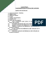 Datos Del Postulante Para Firma Del Contrato
