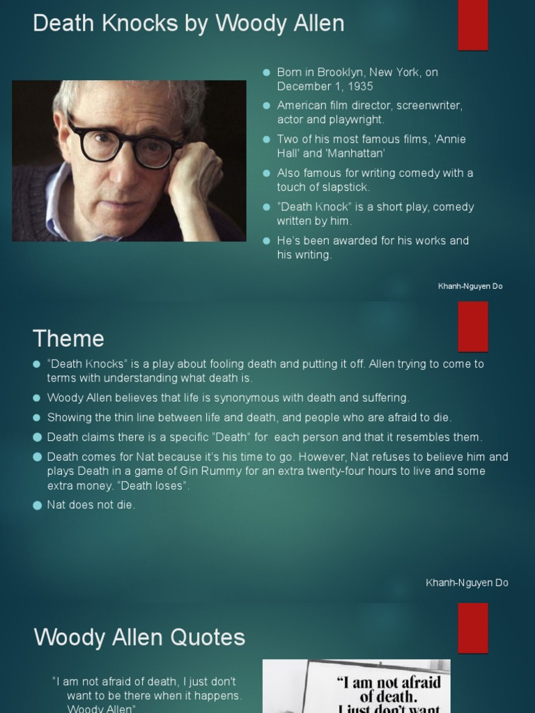 English Essay About Environment Death Knocks Woody Allen Essay Writefiction Web Fc Com How Woody Allen Lost  Me Proposal Essay also High School Essays Inceptia Financial Stress An Everyday Reality For College Students  Example Of A Essay Paper