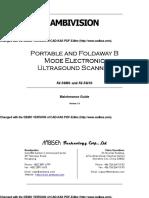 Manual Ecografo Eximed Mantenimiento AV-3618 Ok