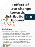 The Effect of Climate Change Towards Distribution Of