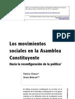 Asamblea Constituyente y Movimientos Sociales