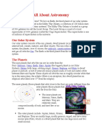 All About Astronomy