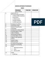 Advanced Database Techniques   Shree Ram College Bhandup