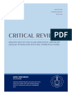 Critical Review Jurnal Ekonomi Kota