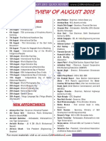 August 2015 Current Affairs Quick Review - Gr8AmbitionZ