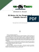 Knaak, Richard - El Reino de Los Dragones 4 - Caballo Oscuro.pdf