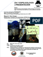 2016-05-18 Cartel Arqueología Espeleología Universidad Granada