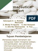 Ppt Pharmaceutical Insert