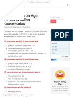 Polity Notes on Age Limits in Indian Constitution