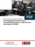 Developing Good Practice for Measuring PSSM Success, Effectiveness and Impact