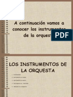 Power Point Instrumentos Orquesta
