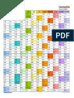Calendar 2016 Landscape in Colour