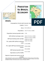 Comparison Between Economy of Pakistan and Brazil