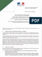 Avis d'Enquête Publique LGV Bordeaux-Dax et Bordeaux-Toulouse