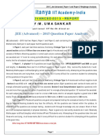 2015_Jee-Advanced_Paper-1 and Paper-2 Weightage Analysis.pdf