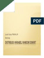 Distribusi Variabel Random Diskritx