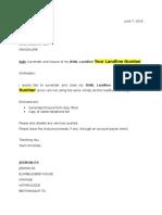 BSNL Landline Broadband Closure Letter