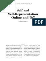 Self and Self Representation Online