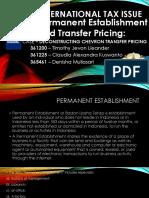 Permanent Establishment and Transfer Pricing