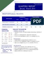 Quarterly Report Jan March 2014 by Dewan P.N. Chopra & Co.